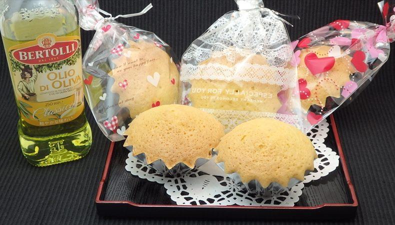 ピュアオリーブオイルカップケーキ