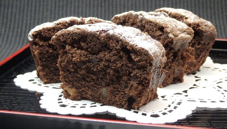 オレンジピールチョコレートパウンドケーキ