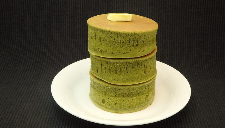 厚焼き抹茶ホットケーキ