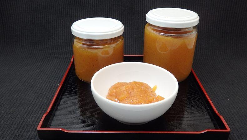 甘柿 3個で作る柿ジャム