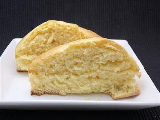 ケーキ型で焼いたホットケーキ