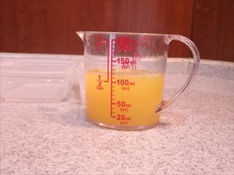 果汁100%のジュースで作る寒天の作り方