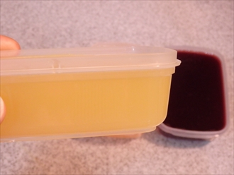 果汁100%のジュースで作る寒天