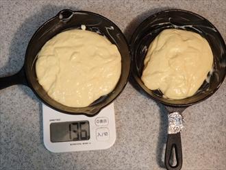 みりん入りと溶かしバター入りホットケーキ