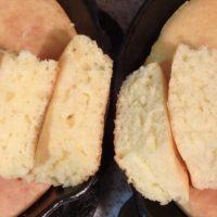 フワッと柔らかいみりん入りホットケーキと普通のホットケーキの食べ比べ